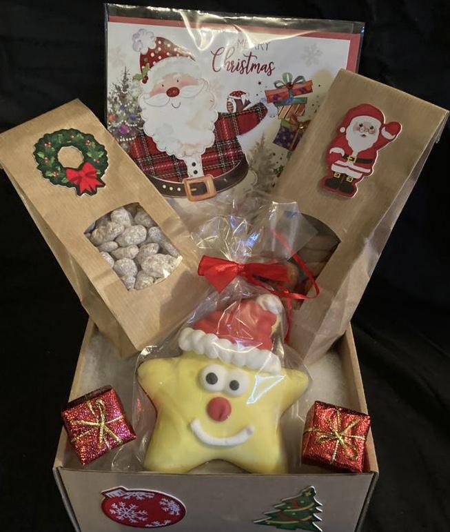Weihnachtsbox Durchsichtige Box mit Karte
