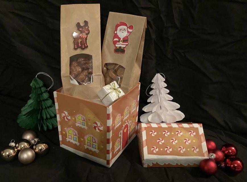 Weihnachtsbox Kleine Box als Haus